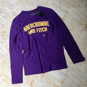Abercrombie Kids Long Sleeve Purple Shirt 11/12